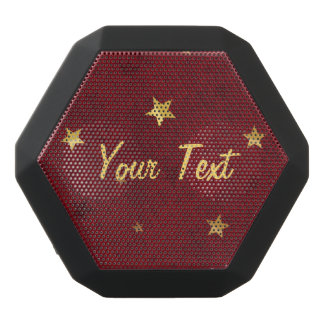 Royal Red Golden Stars Customizable