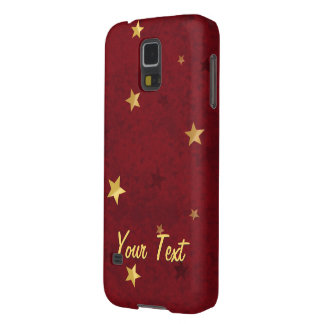 Royal Red Golden Stars Galaxy S5 Covers