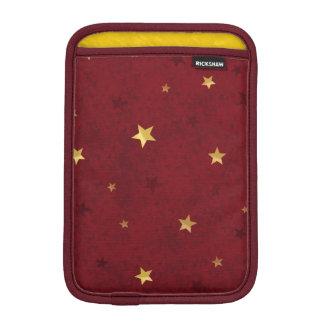 Royal Red Golden Stars iPad Mini Sleeve