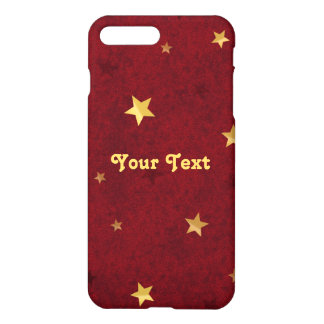 Royal Red Golden Stars iPhone 7 Plus Case