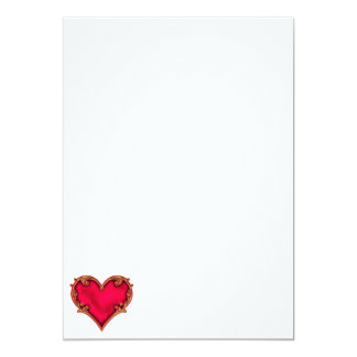 Royal Red Heart 13 Cm X 18 Cm Invitation Card