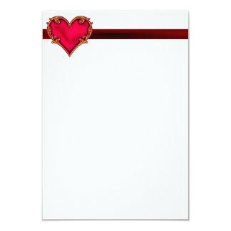 Royal Red Heart 9 Cm X 13 Cm Invitation Card
