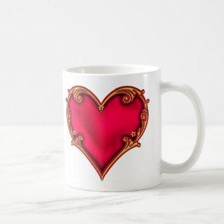 Royal Red Heart Basic White Mug