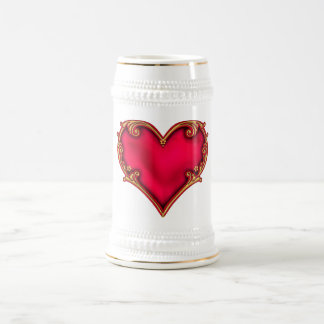 Royal Red Heart Beer Steins
