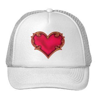 Royal Red Heart Cap