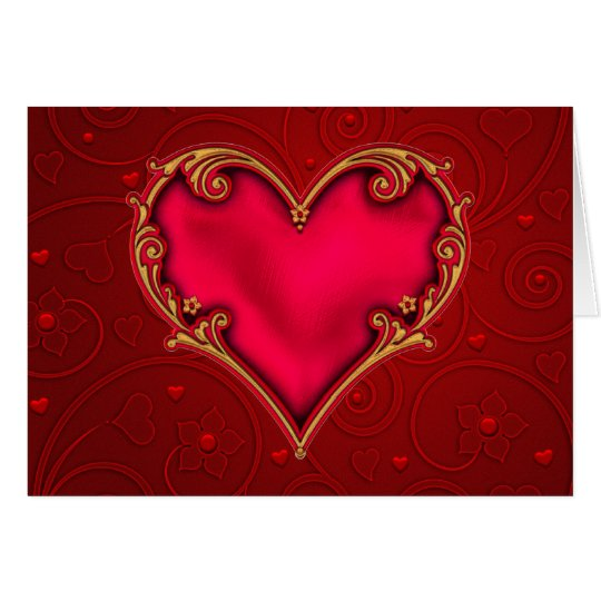 Royal Red Heart Card