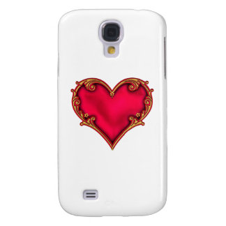Royal Red Heart Galaxy S4 Case