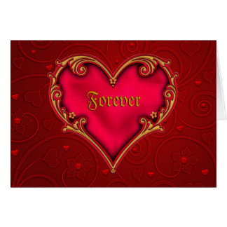 Royal Red Heart Greeting Card