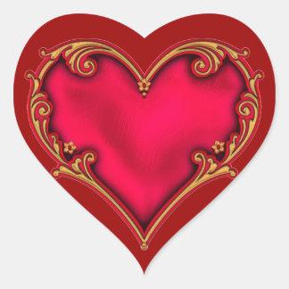 Royal Red Heart Heart Sticker