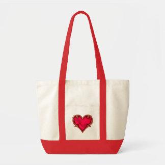 Royal Red Heart Impulse Tote Bag