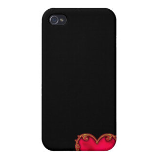Royal Red Heart iPhone 4 Cover