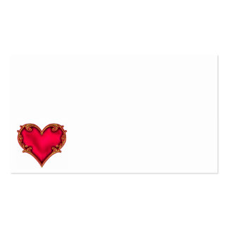 Royal Red Heart Pack Of Standard Business Cards