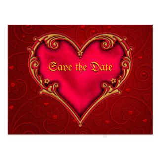 Royal Red Heart Postcard