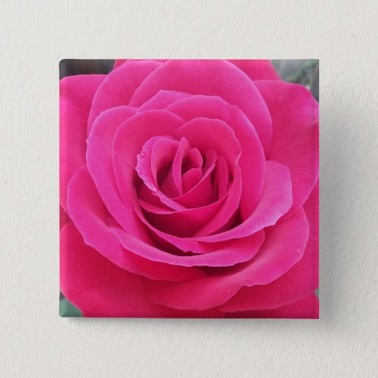 Royal Red Rose 15 Cm Square Badge
