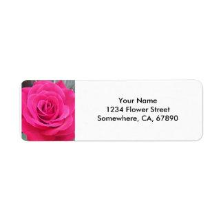 Royal Red Rose Return Address Label