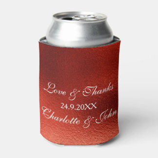 Royal Red Shiny Save The Date Cooler