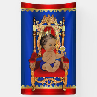Royal Regal Fancy Ethnic Prince Boy Baby Shower Banner