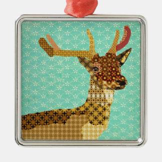 Royal Reindeer Turqoise Ornament