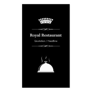 Royal Restaurant - Professional Modern Black White Pack Of Standard Business Cards
