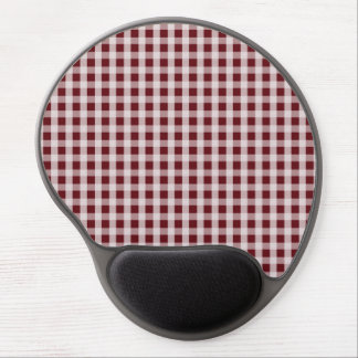 Royal Rose Red Gingham Check Plaid Pattern Gel Mouse Mat