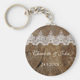 Royal Rustic Chic Save The Date Key Round Gift Basic Round Button Key Ring