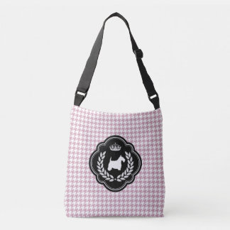 Royal Scottie Pastel Lilac Houndstooth Tote Bag