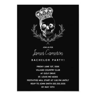 Royal Skull Bachelor Party Card