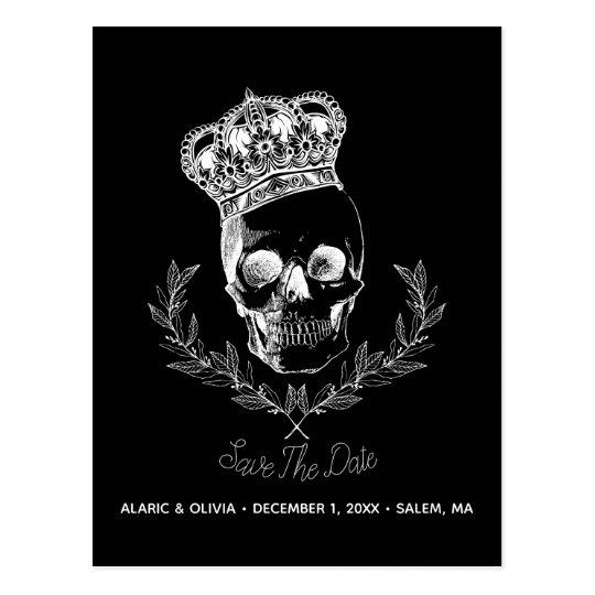 Royal Skull Save The Date Postcard