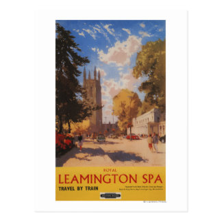 Royal Spa, Street View British Railways Poster Postcard