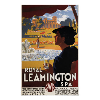 Royal Spa, Woman Drinking Water Rail Poster