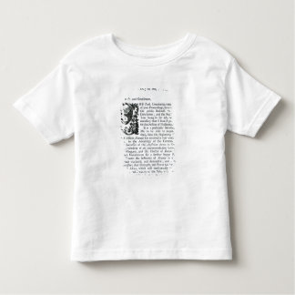 Royal Speech to both Houses of Parliament Toddler T-Shirt