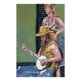 Royal St. Banjo Player Poster