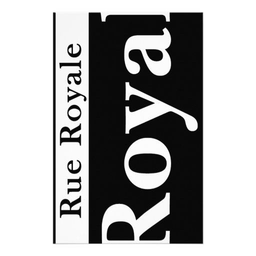 Royal St., New Orleans Street Sign Customized Stationery