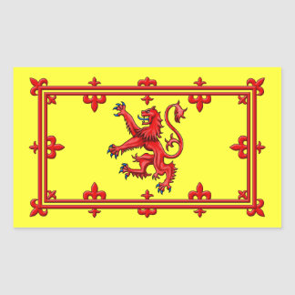 Royal Standard Of Scotland Rectangular Sticker
