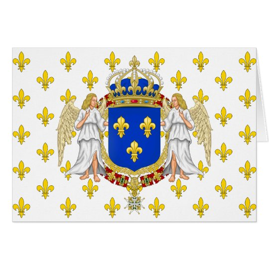 Royal Standard Of The Kingdom Of France, France Card