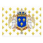 Royal Standard Of The Kingdom Of France, France Postcard