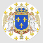 Royal Standard Of The Kingdom Of France, France Round Sticker