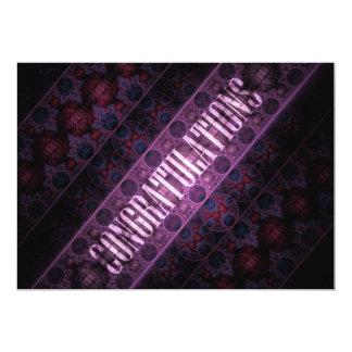 Royal Steampunk Congratulations Fractal Custom Invites
