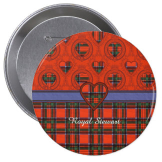 Royal Stewart clan Plaid Scottish tartan 10 Cm Round Badge