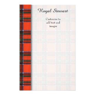 Royal Stewart clan Plaid Scottish tartan 14 Cm X 21.5 Cm Flyer