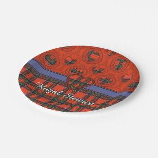 Royal Stewart clan Plaid Scottish tartan Paper Plate