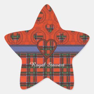 Royal Stewart clan Plaid Scottish tartan Star Sticker