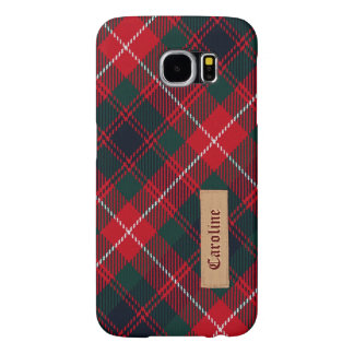 Royal Stewart Girly Tartan Pattern - Fabric Look Samsung Galaxy S6 Cases
