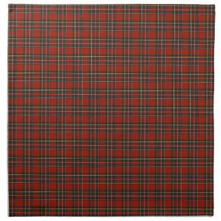 Royal Stewart Red and Blue Scottish Clan Tartan Napkin