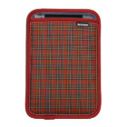 Royal Stewart Red, Blue, and Green Tartan iPad Mini Sleeve