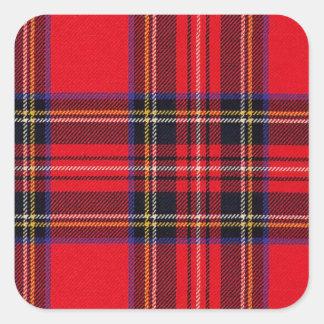 Royal Stewart Square Sticker