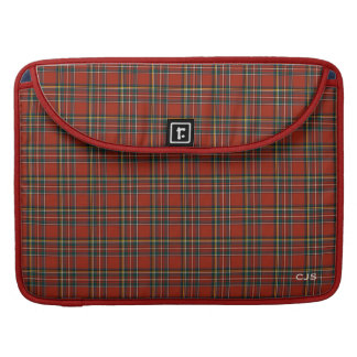 Royal Stewart Tartan Classic Red Plaid Monogram Sleeve For MacBooks