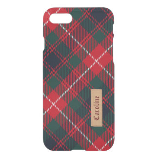 Royal Stewart Tartan Pattern - Girly Red Custom iPhone 7 Case
