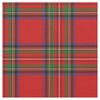 Royal Stewart Tartan Print Fabric