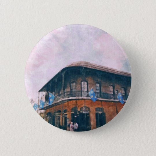 Royal Street at french quarter in new Orleans 2 6 Cm Round Badge